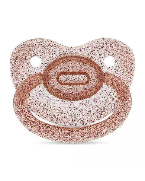 Adult Clear Brown Dummy/Pacifier