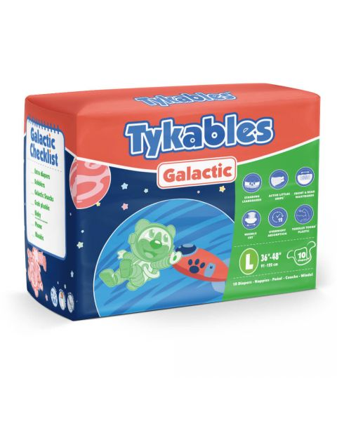 Tykables Galactic - Large - Pack of 10