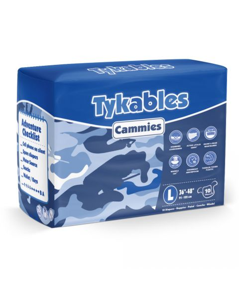 Tykables Cammies - Large - Pack of 10