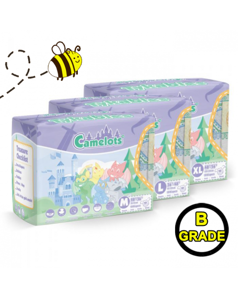Tykables Camelots - Large - Pack of 10 - B-Grade