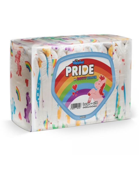 Pride by Dotty Diaper V2 - Large - Pack of 10