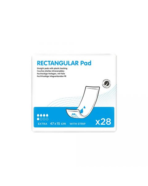 Ontex Rectangular Insert Pad - Extra (PE Backed with Strip) - Pack of 28