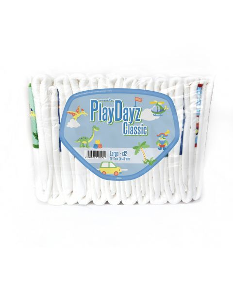 GetNappied PlayDayz Classic Blue (PE Backed) - Large - Pack of 12