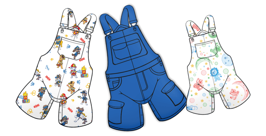Tykables Shortalls and Skirtalls